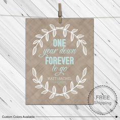 First Anniversary Gift For Husband Wife Couple