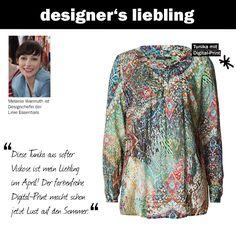 Der April-Liebling unserer Designchefin Melanie #zerofashion #bluse #digitalprint