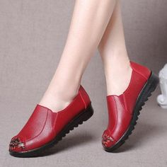 #BFCM #CyberMonday #PopJulia - #PopJulia Stitching Round Toe Women Slip-On Loafers - AdoreWe.com Loafers Online, Leather Slippers, Ladies Slips, Loafers For Women, Dress Shoes, Women's Shoes, Loafer Flats, Christian Louboutin, Oxford Shoes