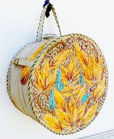 Vintage Hat Box - Basket Purse -