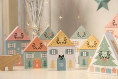 FREE Printable Advent Calendar Houses