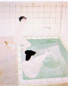 Japanese Bathers by Yuki Ogura, 1938. Tokyo Museum of modern art.  via http://waldeinsamkeiten.tumblr.com