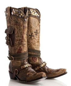 Lane For Double D Ranch Frontier Trapper Cowgirl Boots