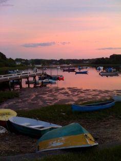 falmouth, cape cod, ma.  sunset bliss.