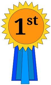 1st Place Ribbon by @cross37, A basic first place award ribbon