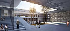 Kayseri Chamber of Commerce Building Comp Purchase PRZ on Behance - Architecture Cultural Architecture, Villa Architecture, Landscape Architecture Design, Education Architecture, Japanese Architecture, Concept Architecture, Japanese Buildings, Public Architecture, Chamber Of Commerce