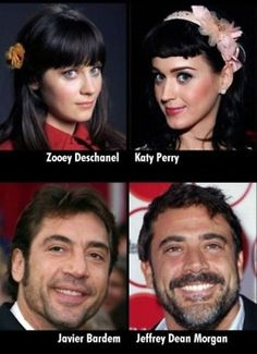 Yesss! Both of these celebrity doppelgangers have been driving me nuts for years. Zoeey Deschanell/Katy Perry and Denny from Greys and that other guy.