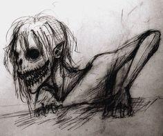Creepy sketch thing by forbiddenepics on deviantart horror drawing, horror art, weird drawings, Creepy Sketches, Scary Drawings, Demon Drawings, Dark Art Drawings, Drawing Sketches, Drawing Ideas, Gothic Drawings, Drawing Drawing, Tattoo Drawings