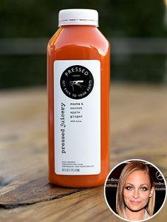 Nicole Richie's Carrot-Beet Juice Recipe courtesy of Pressed Juicery Makes 2  4 medium carrots, washed well and peeled 1 apple ½ beet 1 1-inch piece of fresh ginger root  Add ingredients in above order to juicer. Blend until smooth and serve immediately.