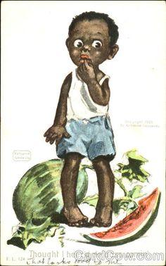 Thought I Here's De Boss Comin Katherine Gassaway Black Americana