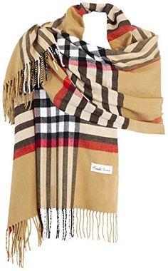 Ornella Venturi Femme Etole écharpe Foulard à carreaux en look à carreaux  tendance SC81703 197 x 7a045b0971d