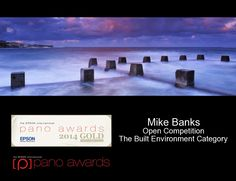 Epson International Pano Awards Gold Award - Coogee Dusk 2014 Built Environment, Epson, Dusk, Landscape Photography, Competition, Awards, Fine Art, Gold, Scenery Photography