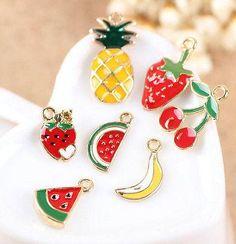 reizende farbe früchte charms ohrringe anhänger dIY schmucksache-Herstellung
