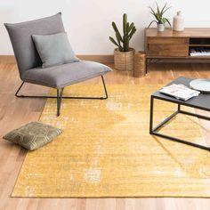 Katoenen vloerkleed, mosterdgeel, 140 x 200 cm, | Maisons du Monde