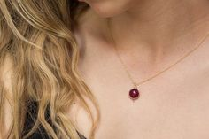 A personal favorite from my Etsy shop https://www.etsy.com/listing/256421973/ruby-necklace-gold-ruby-necklace