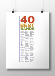 40 Best Bands Poster on Behance