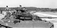 Centurion tanks of / Lancers on the NATO gunnery ranges at Bergen Hohne, Military Tank, Military Armor, The Centurions, Tank Armor, British Armed Forces, War Thunder, Tank Destroyer, Tank Design, World Of Tanks