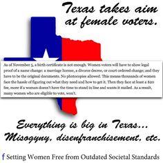 GOP war on women; Texas