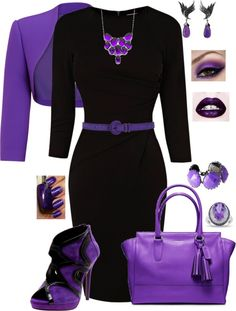 """LBD Splashed with Purple!"" by whitney-salyer on Polyvore"