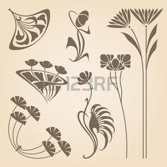 Vector set of vintage art des éléments de conception de nouveau. Banque d'images - 36399890