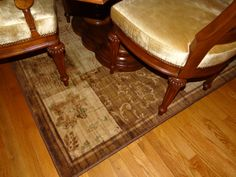 It has gold undertones which matches our dining room area.