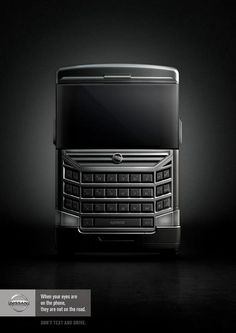 """Nissan: Celltruck """"When your eyes are on the phone, they are not on the road. Don't text and drive."""""""