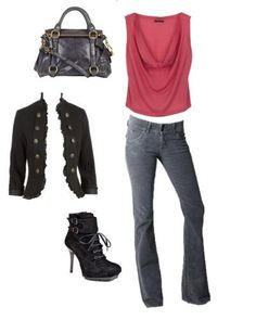 My take mixing up military influence clothes in the jacket, bag and boots together with a cowel neck top with boot leg jeans. Mixing styles & themes makes dressing up so much fun!