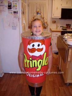 Homemade Pringles Can Halloween Costume