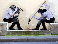 Nuova operadello street artist francese Charles Leval akaLevalet a Parigi