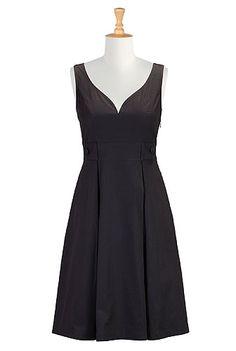 I <3 this Sweetheart cotton poplin dress from eShakti