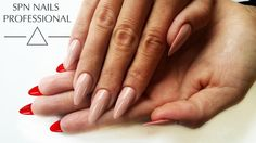 If drawing inspirations, only from #thebest! #ChristianLouboutin #nails version‎ ❤‍ UV LaQ #gelpolish used: ⇨ 515 Love me ⇨ 634 Perfect Beige #Nails: by Rina - Salon Lejdis, #SPNnails Team Poland