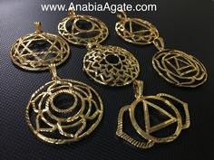 Chakra metal pendant from www.AnabiaAgate.com kindly have a look at our website and inform us about your kind requirements thank you