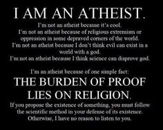 "Just came out to my very religious Jewish parents about being atheist. My dad posted this on my facebook wall writing, ""I thought you might enjoy this."""