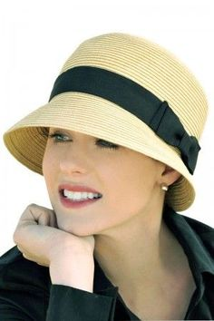bc85207d9207a April Cloche Hat - Straw Sun Protection Hat for Women - Vintage Head Wear  Look