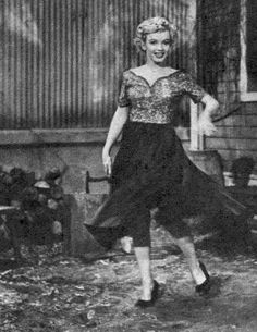 """Marilyn on the set of """"Clash by Night"""", 1952."""