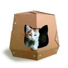 Martian Cardboard Cat House, Cat Furniture, Cat Toy, Cat Bed, Cat Cave
