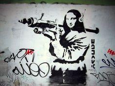 Banksy Mona Lisa With Bazooka Street Art Graffiti Real Canvas Print New Banksy Graffiti, Banksy Prints, Banksy Canvas, Street Art Graffiti, Bansky, Banksy Artwork, Mona Lisa, Urbane Kunst, Large Canvas Art