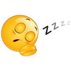sleeping smiley sticker