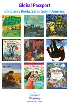 Take your child on a trip to South America through picture books! Learn about animals, culture, folktales and more from Argentina, Colombia, Brazil, Chile, and other South American countries with these children's books.
