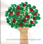 Johnny Appleseed Day ~ Hand & Fingerprint Apple Tree