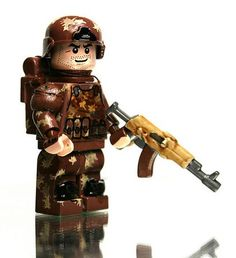 Lego military unit, in woodland camo!