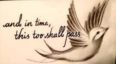 Image result for this too shall pass tattoo