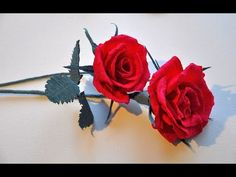 Rose of paper step by step # Flowers of paper # Crepe paper rose DIY | City of Flower