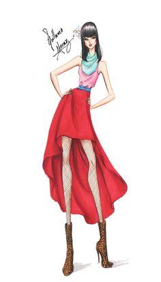 Guillermo García Meraz, art, illustration, fashion, fashion sketches, high fashion, Disney, fan art, film, Mulan