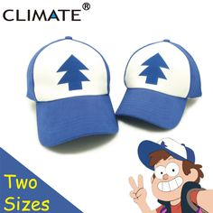 c4c1aabc06978 CLIMATE 2017 New Spring Summer Gravity Falls U.S Cartoon Mabel Dipper Pines  Cosplay Cool Baseball Mesh Caps Adjustable Sport Hat-in Baseball Caps from  Men s ...