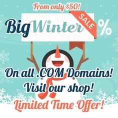 Big Winter Sale% On All Domains! Starts From Only $50! Limited Time Offer! Don't Miss This Opportunity, Get Top Level Domains For Nickel Of Their Real Price!  #domains #domainnames #domainforsale #domain #website #domainname #business #domainnamesforsale #domainsforsale #godaddy #webhosting #domainer #marketing #web #domainbroker #domainsale #killerlaunch #namejet Domain Name Ideas, Winter Sale, Opportunity, Names, Marketing, Website, Big, Business, Store