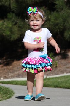 could be easy DIY - ruffles added to a t-shirt for older girls