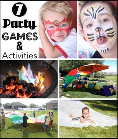 Party Games and Activities for Kids to help make great memories of playing and just having fun.  We all need more of this.