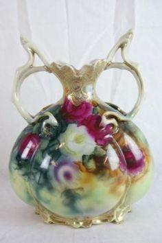 Nippon porcelain hand painted vase : Lot 9