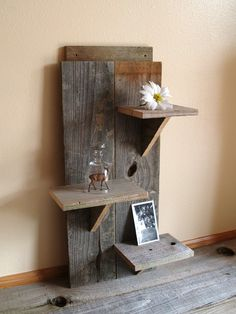 Love this for background   reclaimed wood shelf